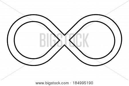 Infinity Sign Silhouette Vector Symbol Icon Design.