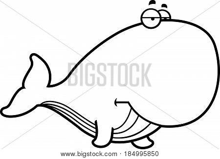 Bored Cartoon Whale