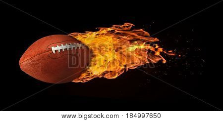 Flying Football Engulfed In Flames
