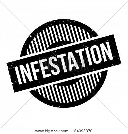 Infestation rubber stamp. Grunge design with dust scratches. Effects can be easily removed for a clean, crisp look. Color is easily changed.