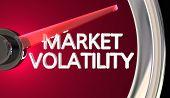 Market Volatility Gauge Speedometer Measure Risk Danger 3d Illustration poster