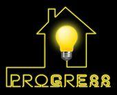 Progress Light Showing Improvement Growth And Advancement poster