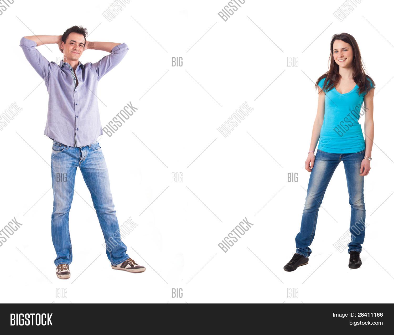 Imagen y foto retrato de cuerpo entero de dos bigstock for Espejos de cuerpo completo
