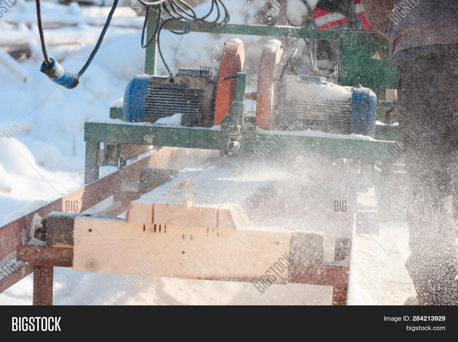 Sawing Boards On Image & Photo (Free Trial) | Bigstock