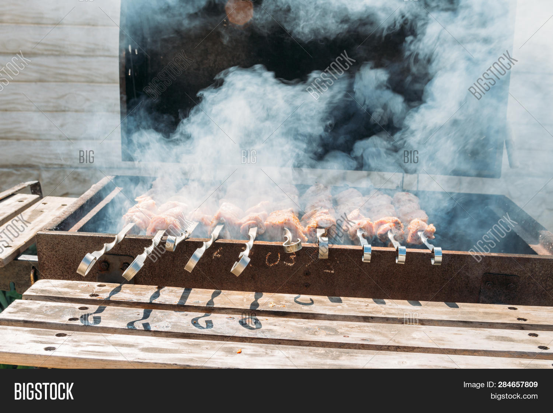 Tuin en terras 24 x 35CM LONG METAL BBQ BARBECUE KEBAB FOOD