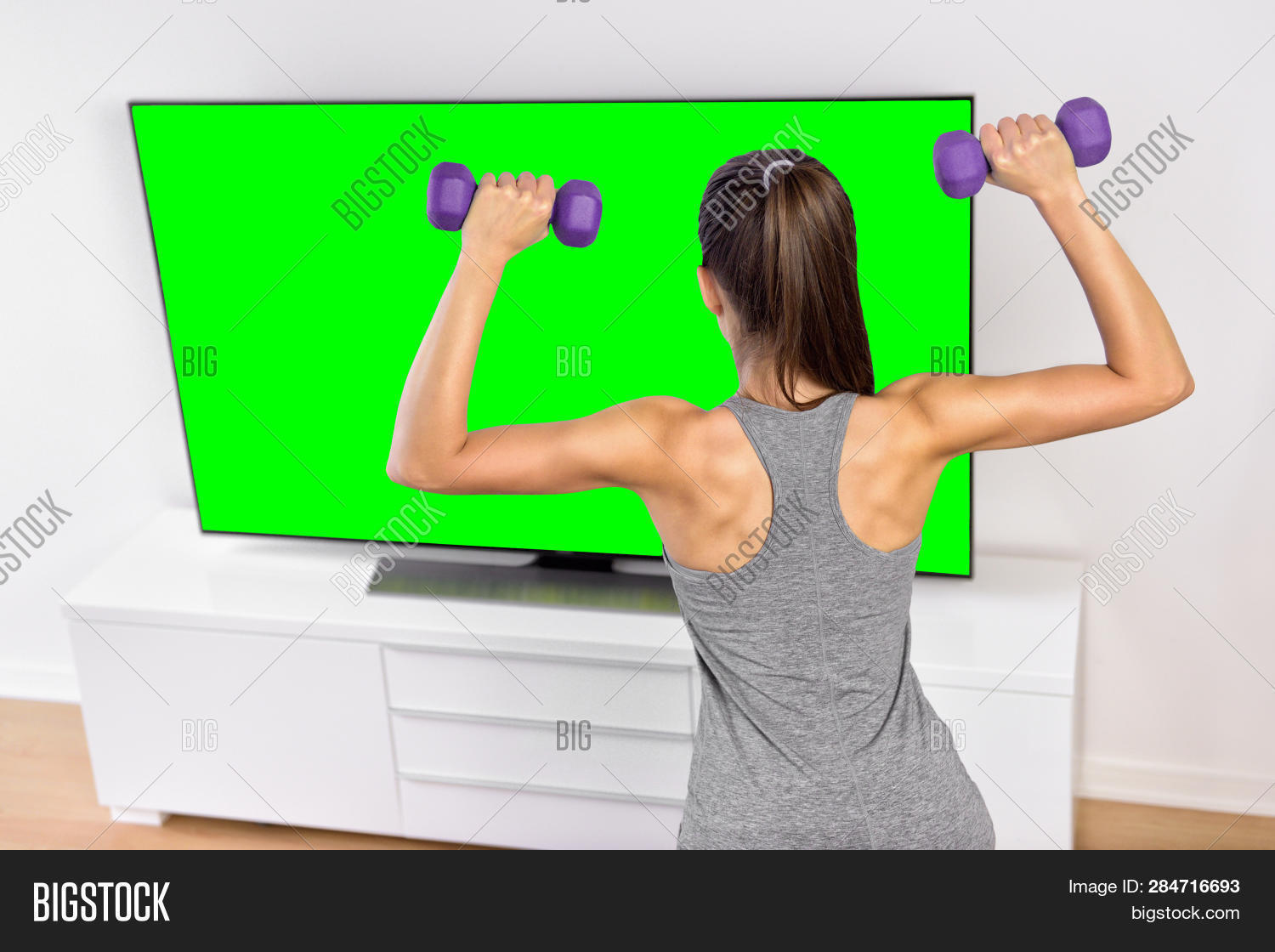 Home Workout Tv Image & Photo (Free Trial) | Bigstock