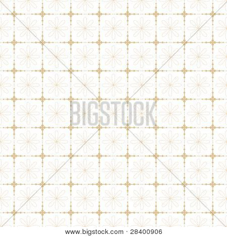 Beautiful background of seamless floral and dots pattern