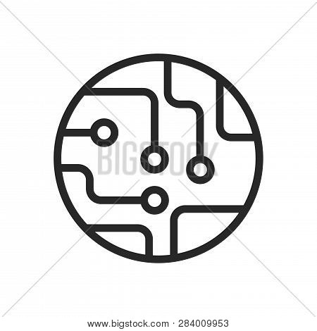 Circuit Board Icon Isolated On White Background. Circuit Board Icon In Trendy Design Style. Circuit