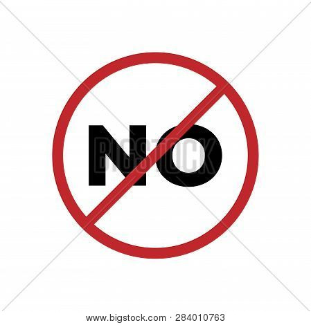 No Sign Icon Isolated On White Background. No Sign Icon In Trendy Design Style. No Sign Vector Icon