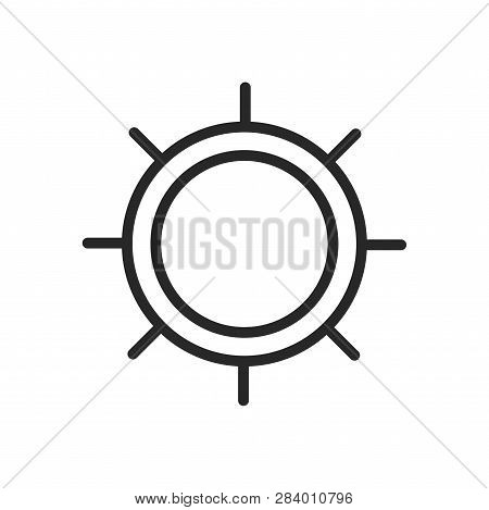 Ship Helm Icon Isolated On White Background. Ship Helm Icon In Trendy Design Style. Ship Helm Vector