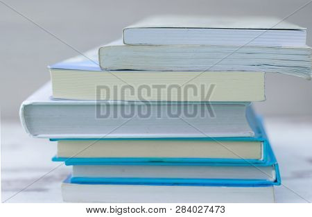 Book. Many Books. Stack Of Colorful Books. Education Background. Back To School. Book, Hardback Colo