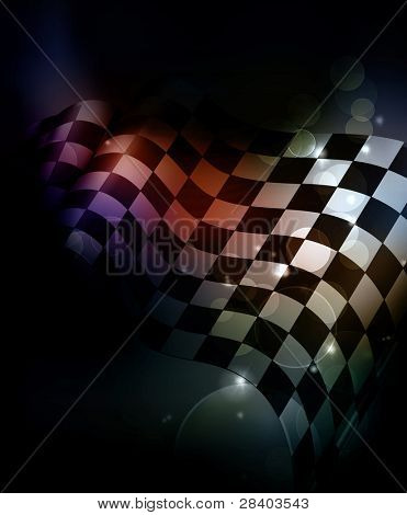 Dark Checkered Background, 10eps
