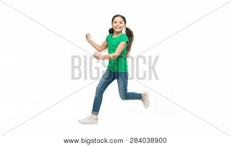 Kid Captured In Motion. How Raise Active Kid. Free And Full Of Energy. Rules To Keep Kids Active. Gi