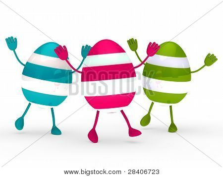 Colorful Eggs Wave Jump