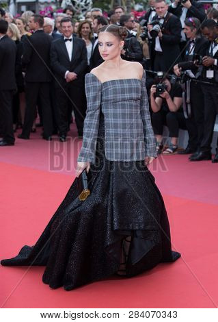 CANNES, FRANCE - MAY 09:  Xenia Tchoumitcheva attends the screening of Yomeddine during the 71st Cannes Film Festival on May 9, 2018 in Cannes, France.