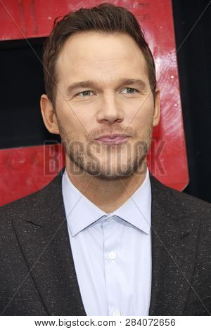 Chris Pratt at the Los Angeles premiere of 'The Lego Movie 2: The Second Part' held at the Regency Village Theatre in Westwood, USA on February 2, 2019.