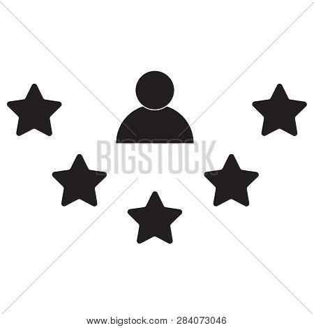 Rate Icon On White Background. Flat Style. Rate Icon For Your Web Site Design, Logo, App, Ui. Custom