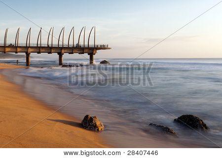Umhlanga pier in the morning light