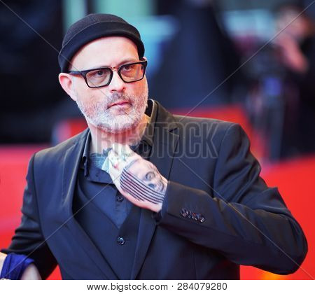 Denis Cote arrives  for the 'Ghost Town Anthology' (Repertoire des villes disparues) premiere during the 69th Berlinale Film Festival Berlin at Berlinale Palace on February 11, 2019 in Berlin, Germany