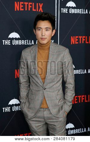 LOS ANGELES - FEB 12: Justin Min at the premiere of Netflix's 'The Umbrella Academy' at ArcLight Hollywood on February 12, 2019 in Los Angeles, California,