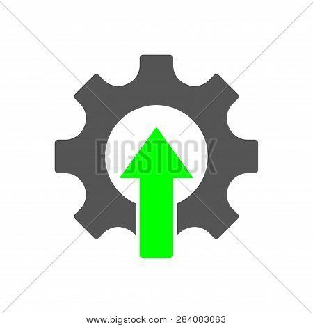 Industrial Revolution Logo. Factory 4.0, Iot Integration Automation Modernization Robot Arm Engineer
