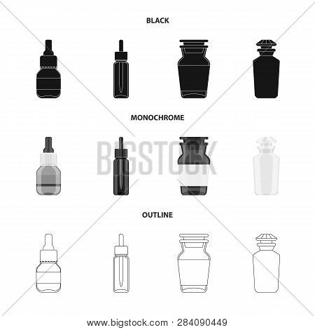 Isolated Object Of Retail And Healthcare Sign. Set Of Retail And Wellness Vector Icon For Stock.