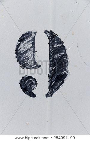Number Nine Painted Stencil On White Backdrop, Number Nine, Number 9