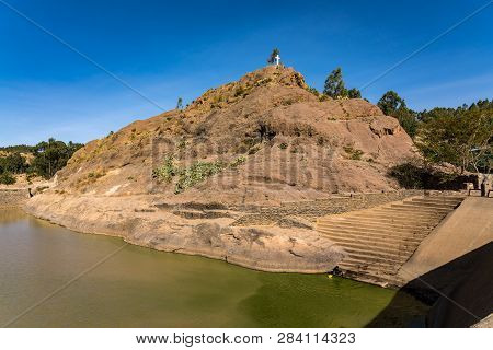 Ethiopia, Axum, the ruins of the baths of the Queen of Saba poster