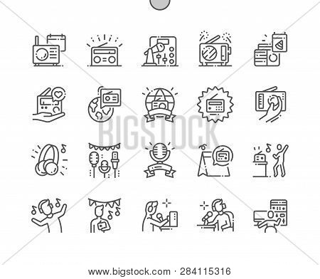 World Amateur Radio Day Well-crafted Pixel Perfect Vector Thin Line Icons 30 2x Grid For Web Graphic