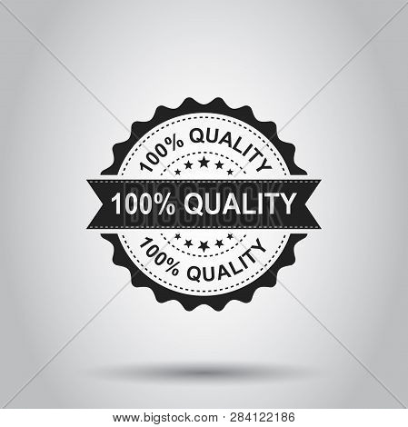 100 Quality Grunge Rubber Stamp. Vector Illustration On White Background. Business Concept 100 Perce