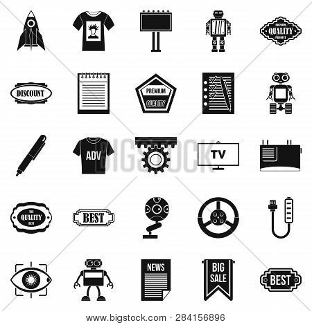Press Room Icons Set. Simple Set Of 25 Press Room Icons For Web Isolated On White Background