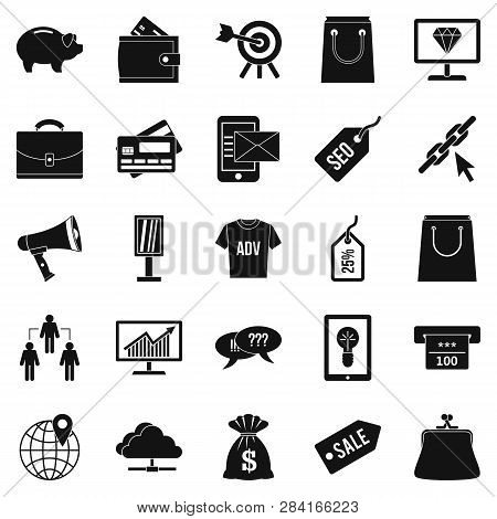 Commercially Profitable Icons Set. Simple Set Of 25 Commercially Profitable Icons For Web Isolated O