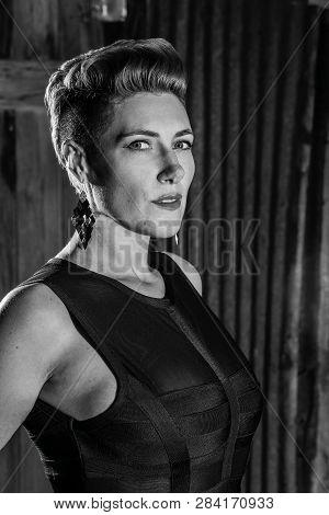 Noir Style Portrait Of A Beautiful Woman