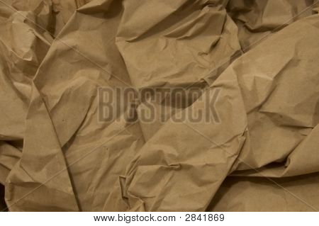 Crinkled Brown Paper Bag