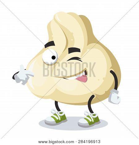 Cartoon Joyful Baozi Dumplings With Meat Winks