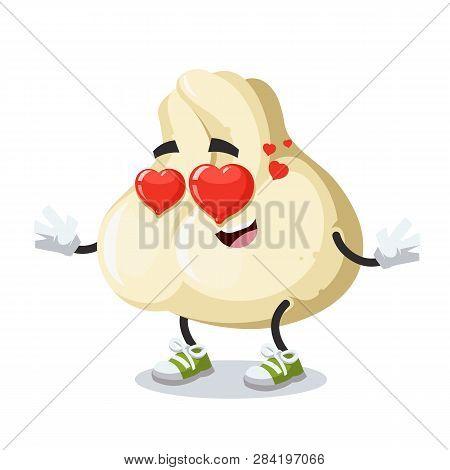In Love Cartoon Baozi Dumplings With Meat Character Mascot