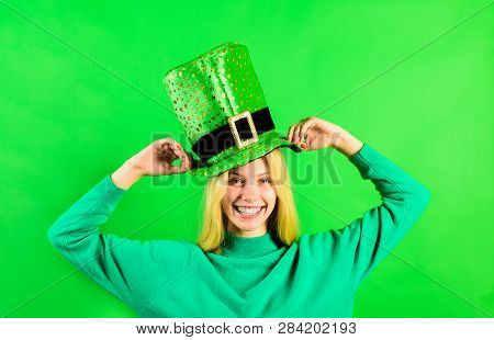 Patrick's Day. Green Top Hat. Girl In Green Hat. Leprechaun. Green Leprechaun. Green Hat With Clover