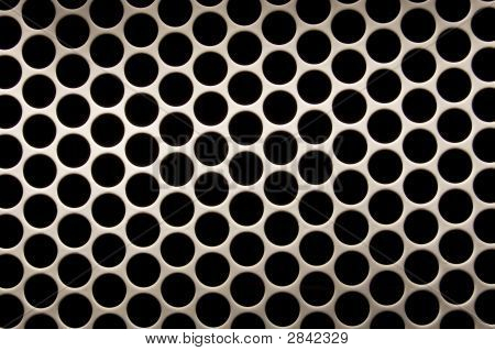 White Grid Circular Background - More In Portfolio