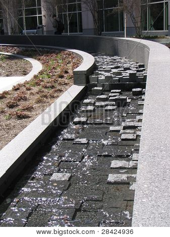 Fountain with pavers
