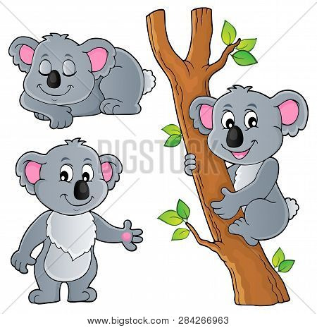 Koala Theme Collection 1 - Eps10 Vector Picture Illustration.