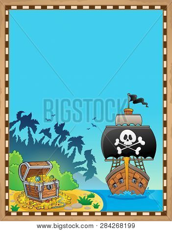 Pirate Topic Parchment 9 - Eps10 Vector Picture Illustration.