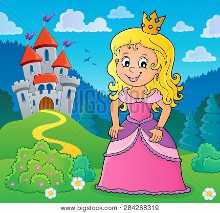 Princess Topic Image 1 - Eps10 Vector Picture Illustration.