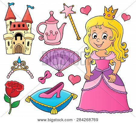 Princess Topic Set 1 - Eps10 Vector Picture Illustration.