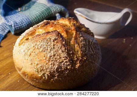 Rustic wheat bread