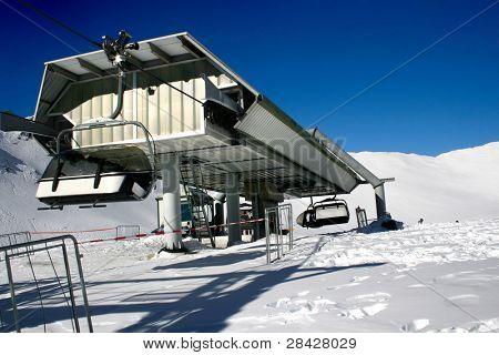 Ski station - landscape with ski lift
