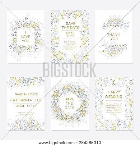 Romantic Tender Floral Design For Wedding Invitation, Save The Date, I Love You And Thank You Cards.
