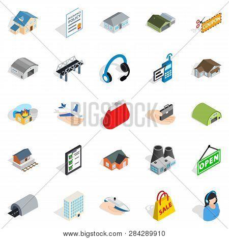 Pledge Icons Set. Isometric Set Of 25 Pledge Icons For Web Isolated On White Background