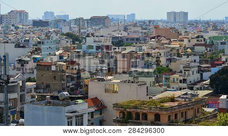 Saigon, Vietnam - Nov 20, 2018. Aerial View Of Saigon (called Ho Chi Minh City), Vietnam. Saigon Pop