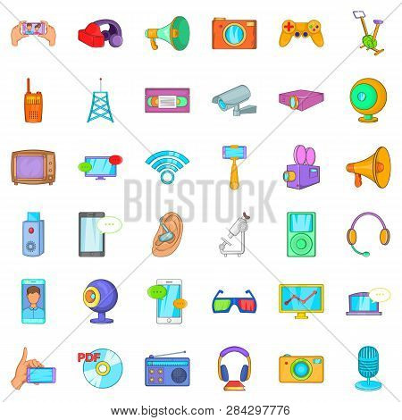 Good Gadget Icons Set. Cartoon Style Of 36 Good Gadget Icons For Web Isolated On White Background