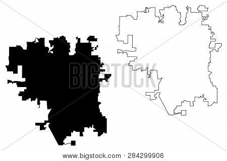 Lincoln City (united States Cities, United States Of America, Usa City) Map Vector Illustration, Scr